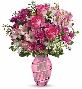Pink Bliss vase arrangement in Yoakum, TX | KARL'S FLOWERS & GIFT SHOP