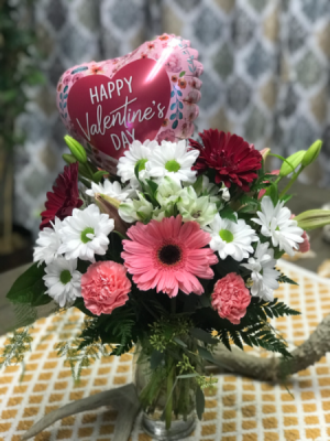 Pink blossom  Valentine mix in Tremonton, UT | Bowcutt's Flowers & Gifts