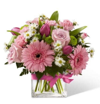 Pink blossoms  Vase