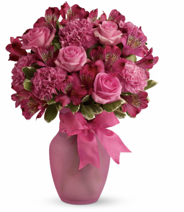 Pink Blush Bouquet Fresh Arrangement