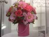 Pink blush Pink tin arrangement