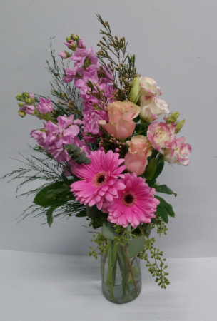 Pink Blush Vase Arrangement