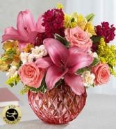 Pink bowl of pinks