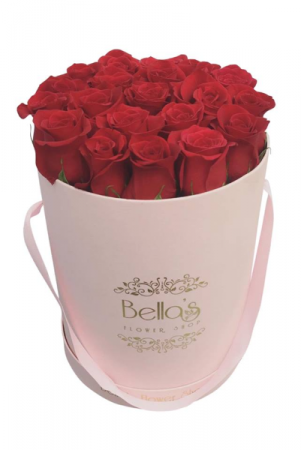 Pink Box Red Roses