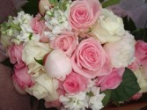 pink bridal bouquet wedding