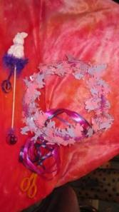 pink bunny halow and wand hair piece and wand