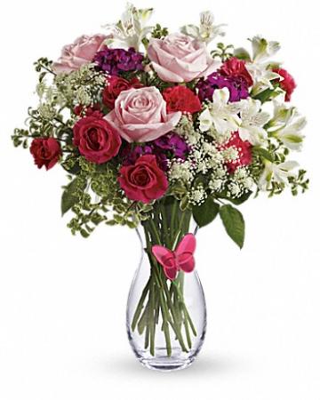 Pink Butterfly - 101 Vase Arrangement