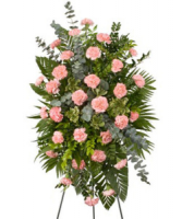 Pink Carnation Spray with asst. greenery