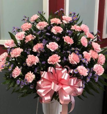 PINK CARNATION TRIBUTE Funeral Basket