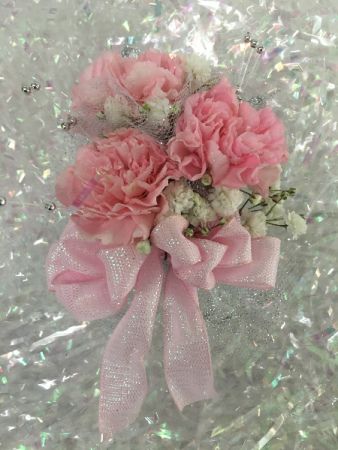Pink Carnation Wrist Corsage