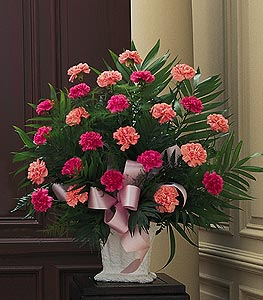 Pink Carnations in a Traditional Style