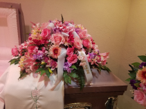 pink casket spray casket spray