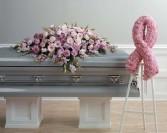 Pink Casket Spray Funeral Flowers Las Vegas