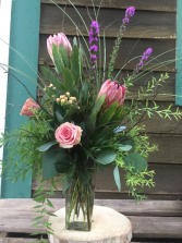 pink charmer flower arrangement