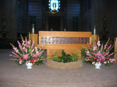 Pink  Church/Ceremony Arrangement