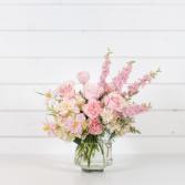 Pink Cloud Monochromatic, Feminine, Garden, Minimal