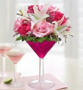 Pink Cosmo (flowers may vary, same look & feel)