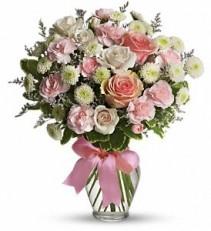 Pink Cotton Candy Floral Bouquet