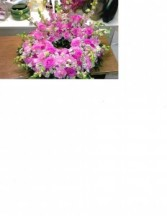 Pink Cramation Urn Wreath Urn Wreath