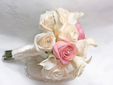 PINK & CREAM BRIDAL BOUQUET Small to Medium