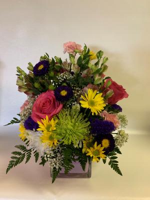 Pink Cube  The Perfect Mixed Arrangement  in Villas, NJ | Barbara's Sea Shell Florist