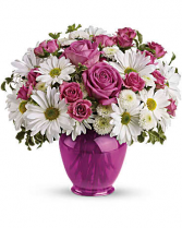 Pink Daisy Delight Vase Arrangement