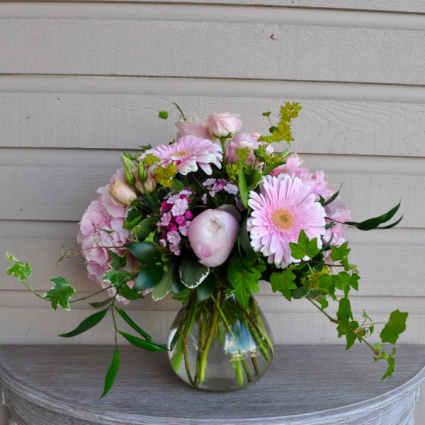 Pink Delight Vase Arrangment