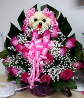 Pink Dog! Floral Design