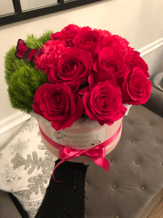 Pink Elegance  Assorted Flowers with Roses
