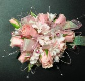 Pink Elegance corsage prom flowers