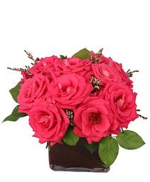 Pink Elegance Roses Floral Arrangement