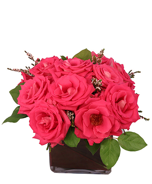 Pink Elegance Roses Floral Arrangement in Mobile, AL | ZIMLICH THE FLORIST