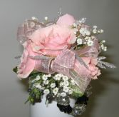 Wrist Corsage-Pink Elegance Corsages and Boutonniers are found unde