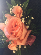 Pink engagement rose Wrist corsage