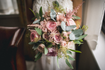 Pink Eternity Bride bouquet Wedding