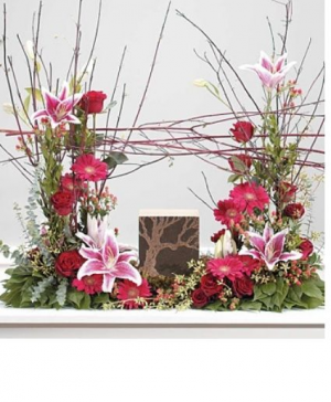 Pink Eucalyptus  urn Cremation  in Abbotsford, BC   FUNERAL FLOWERS ABBOTSFORD