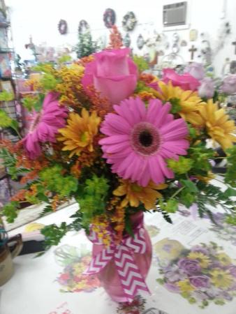 Pink  fall mix Vase