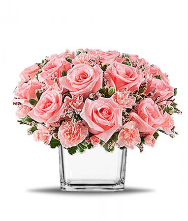 Pink Fancy Cube Vase