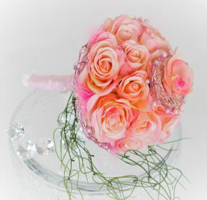 Pink Flamingo Bridal Bouquet