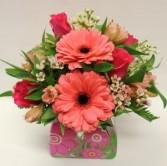 Pink Floral Vase Arrangement