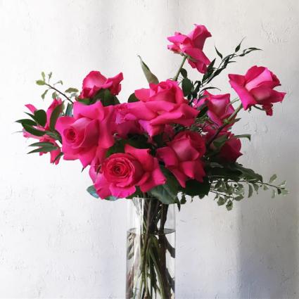 Pink floyd rose vase arrangement in toronto on botany floral studio pink floyd rose vase arrangement mightylinksfo