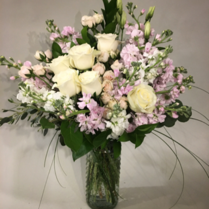 Pink Flurries  Modern Vase Arrangement