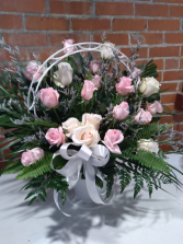 Pink Funeral Arrangement Spray Sympathy Spray