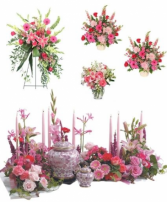 Pink Funeral Cremation