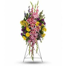 PINK GASER STANDING SPRAY STANDING FUNERAL PC