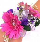 Pink Gerb Corsage Wrist Corsage