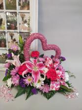 Pink Glitter Fresh flowers