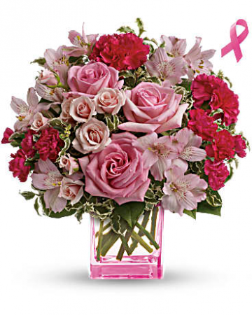 Pink Grace Bouquet Breast Cancer Awareness Arrangement