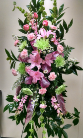 pink & green passion standing spray
