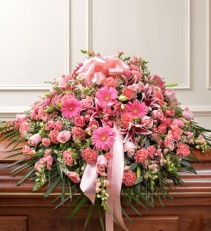 Pink Half Cover  Casket